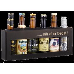 Gaveæske 6 x 33 cl Europæiske Øl