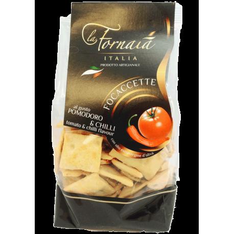 La Fornaia - Focaccette med tomat & chili