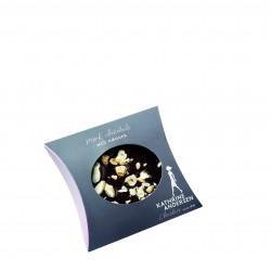 Mørk chokoladeplade med nødder - 100 gr.