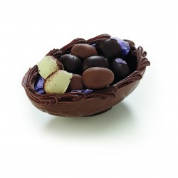 Lys chokoladeskal m. påskeæg, 170 gr.
