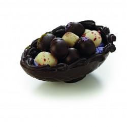 Mørk chokoladeskal m. påskeæg, 250 gr.