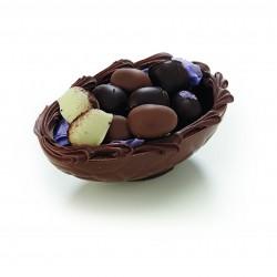 Lys chokoladeskal m. påskeæg, 250 gr.
